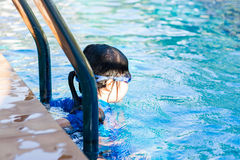 Child, Girl, in Swimming Pool Stock Photography
