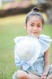 Cute asian girl on Thai dress. Stock Photo
