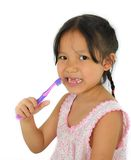Cute asian girl and toothbrush. Of thailand southeast asia Royalty Free Stock Images