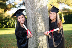 Cute Asian Girls at Graduation Stock Photos