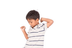 Cute asian little boy. On white background Royalty Free Stock Photo