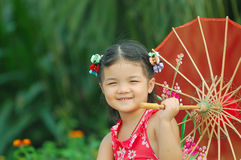 Cute Asian little girl Royalty Free Stock Photos