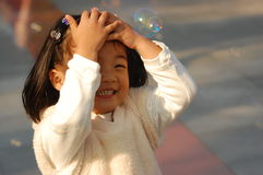 Cute Asian little girl Royalty Free Stock Photography