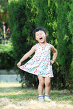 Cute asian little girl with laughing Stock Image