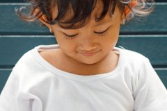 Cute asian little girl portrait Stock Photography