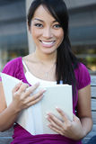 Cute Asian Student at College Stock Photography
