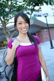 Cute Asian Student at College Royalty Free Stock Image