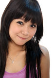 Cute asian young woman. On white Royalty Free Stock Photography