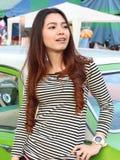 Cute asian young women stock photography