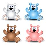 Cute Assorted Teddy Bears Stock Photography