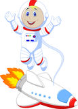 Cute astronaut cartoon Royalty Free Stock Photography
