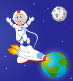 Cute Astronaut cartoon Royalty Free Stock Images