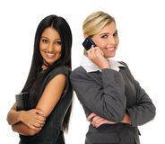 Cute attractive businesswomen royalty free stock images