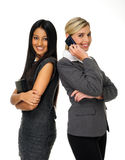 Cute attractive businesswomen Royalty Free Stock Image