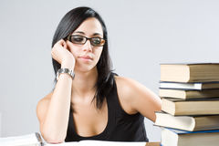 Cute attractive student. Royalty Free Stock Photo