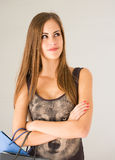Cute attractive young shopper. Stock Photography