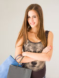 Cute attractive young shopper. Stock Photo