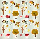 Cute autmn background pattern Royalty Free Stock Photos