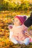 Cute autumn baby girl Stock Photos