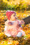 Cute autumn baby girl Royalty Free Stock Photo