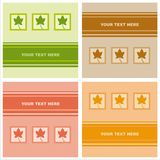 Cute autumn cards Royalty Free Stock Photo
