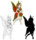Cute autumn fairy Royalty Free Stock Photography