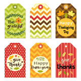 Cute autumn gift tags bundle in traditional colors Stock Photo