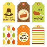 Cute autumn gift tags bundle in traditional colors Stock Images
