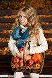 Cute autumn girl royalty free stock photos