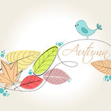 Cute autumn illustration Stock Photos
