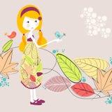 Cute autumn illustration Stock Images