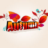 Cute autumn illustration Stock Photo