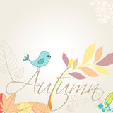 Cute autumn illustration Royalty Free Stock Photo