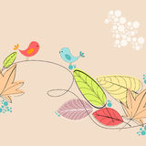 Cute autumn illustration Stock Images