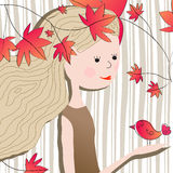 Cute autumn illustration Royalty Free Stock Photography