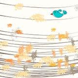 Cute autumn illustration Stock Image