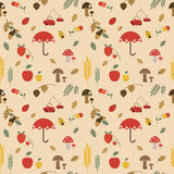 Cute autumn seamless pattern. Kids illustration. Royalty Free Stock Images