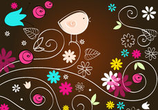 Cute autumn text illustration Royalty Free Stock Images