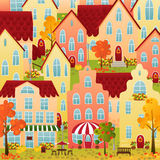 Autumn town Stock Image