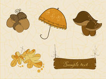 Cute Autumn Vector Set Royalty Free Stock Images