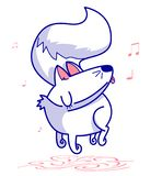 cute avatar a boy with a happy facecute characters of dogs who are having fun and singing royalty free illustration