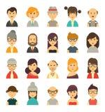 Cute avatars set Stock Image