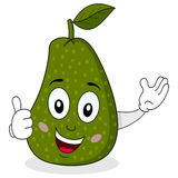Cute Avocado Character with Thumbs Up Royalty Free Stock Photo