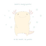 Cute axolotl poster Stock Image