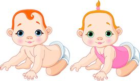 Cute  babies Stock Image