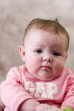 Cute Babies serious expression Royalty Free Stock Photography