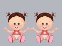 Cute babies, twins twin brothers i twin girls and baby boy. health and baby care, greeting card, postcard, healthy babies, royalty free stock photos