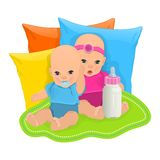 Cute babies Royalty Free Stock Photo