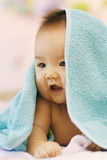 Cute baby. After shower with close up portrait Royalty Free Stock Photos