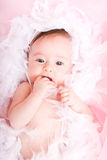 CUte baby. Portrait of cute little baby girl Royalty Free Stock Photo